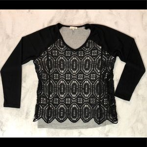 EUC Artisan Crafted by Democracy Crocheted Top L